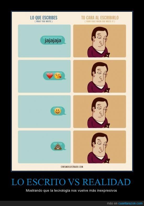 caca,caras,emoticonos,inexpresivos,Jajaja,realidad,whatsapp