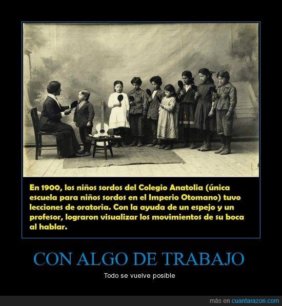 1900,Colegio Anatolia,espejo,hablar,Imperio de los sillones,Imperio Otomano,Oratoria,sordos