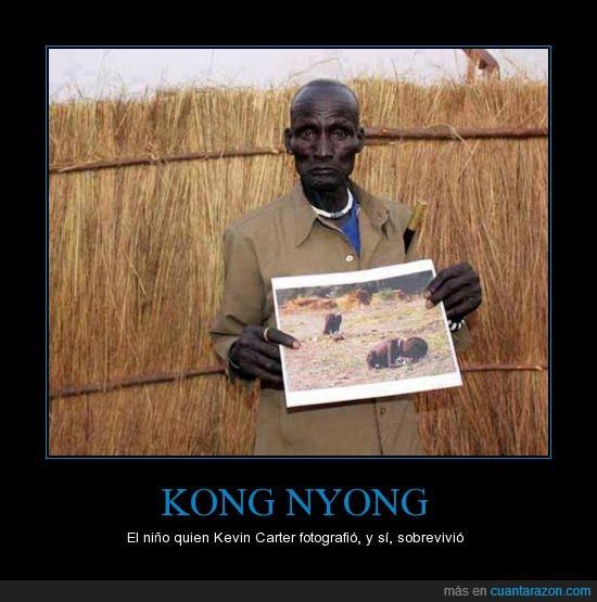 buitre,fotografia,gracias wikipedia,Kevin Carter,Kong Nyong,mitica
