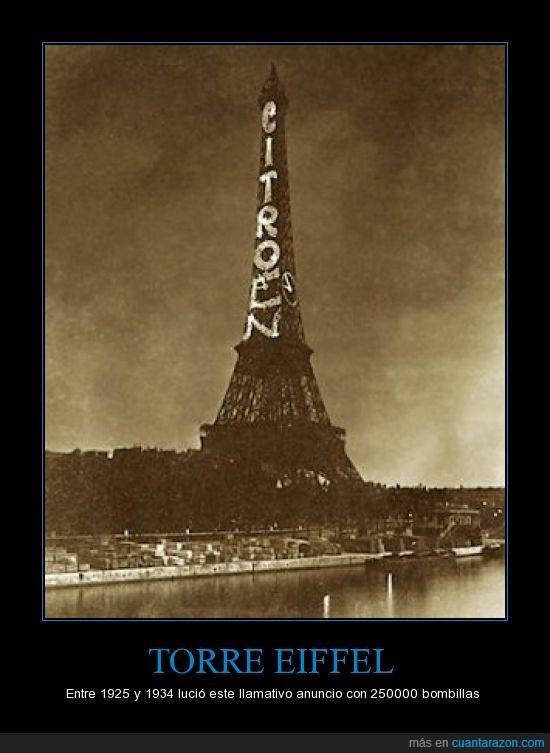 anuncio,Citroën,publicidad,torre Eiffel