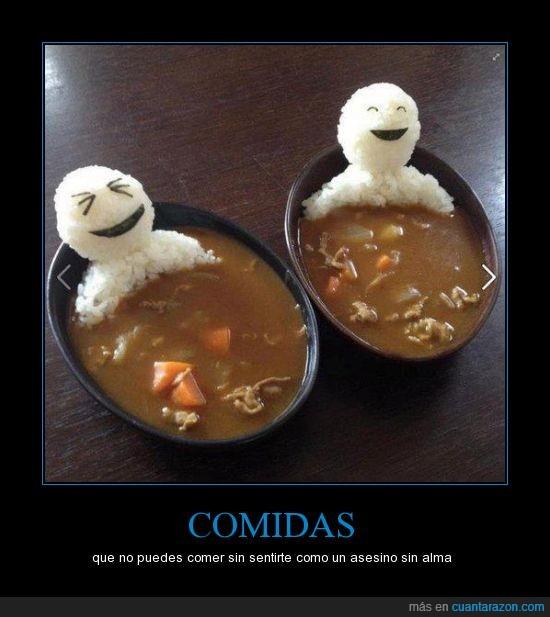 arroz,bañera,persona,probablemente japonés,son tan felices que no puedo masacrarlos!