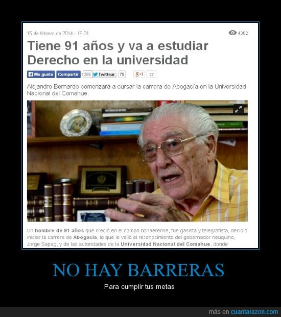 91 años,abogado,argentino,edad,ejemplo a seguir,estudiar,mayor