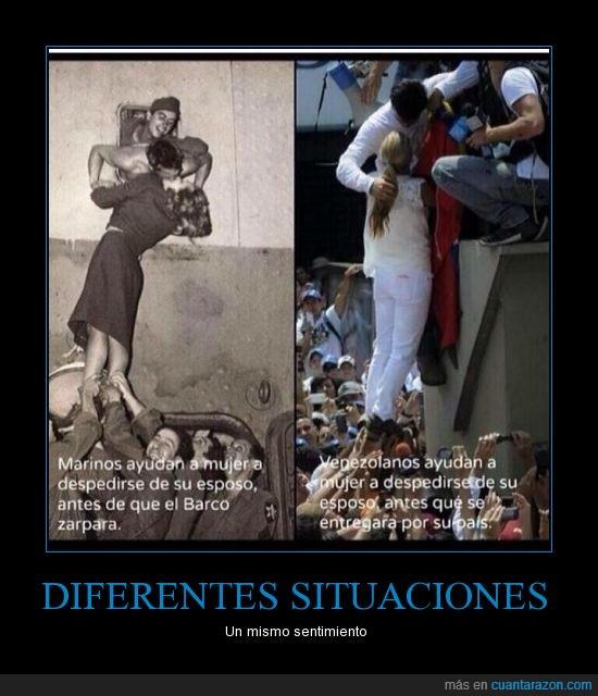 amor,ayduar,besar,despedida,levantar,manifestacion,mujer,Venezuela