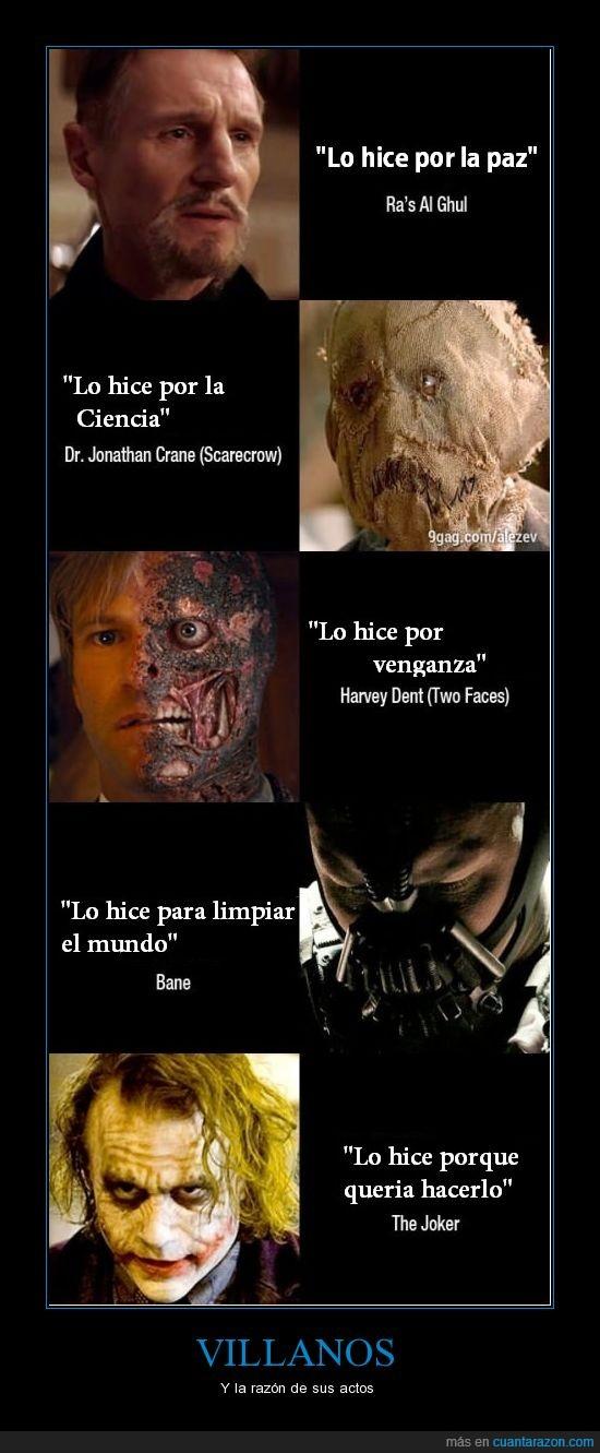 bane,harvey dent,joker,motivo,razon,scarecrow
