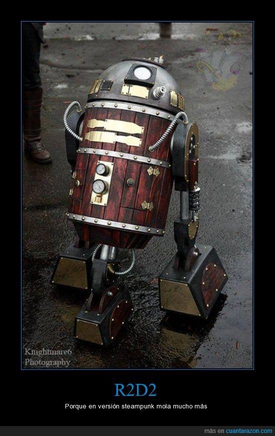 r2d2,robot,star wars,steampunk