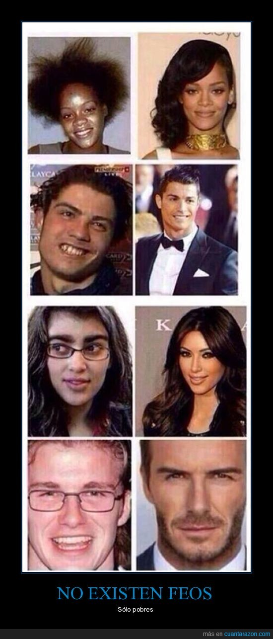 actores,cejacas,cristiano,david beckham,feos,futbolista,kardashian,kim