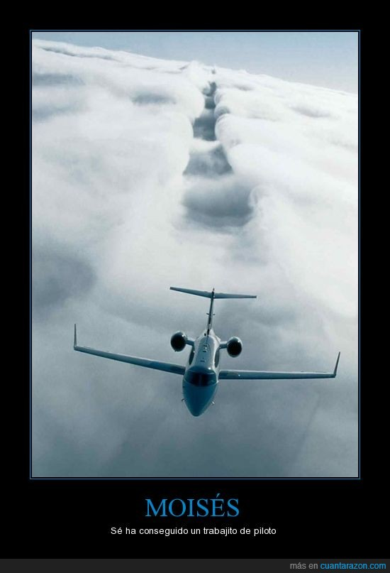 avión,Moisés,nubes,piloto,separar,trabajo