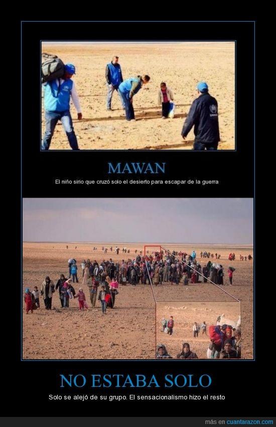 desierto,mawan,niño,refugiado,sensacionalismo,solo
