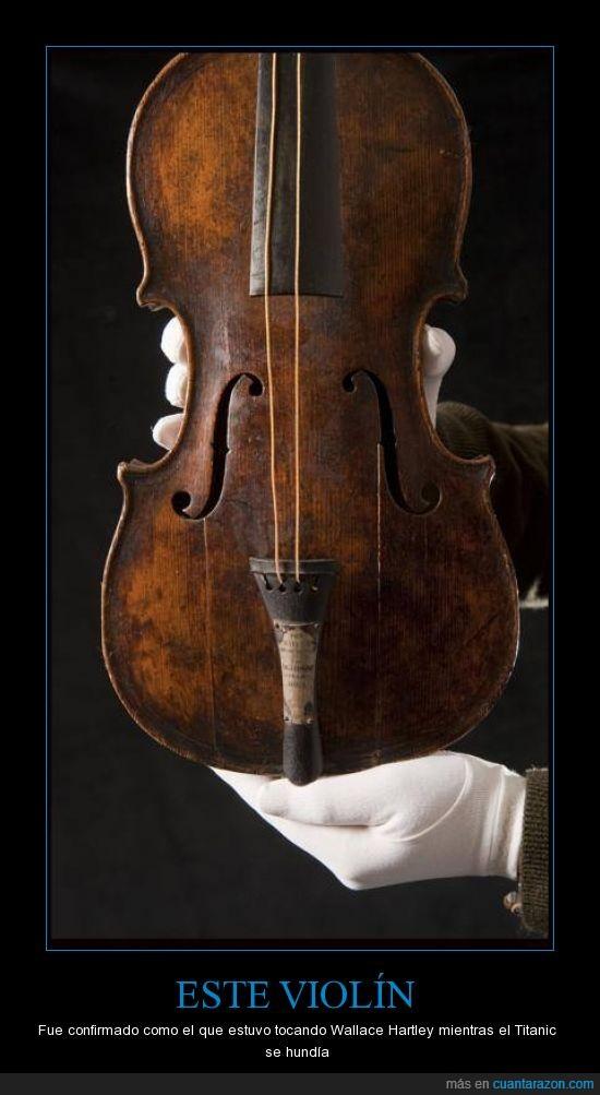 barco,buque,hundimiento,instrumento,Titanic,violín,Wallace Hartley