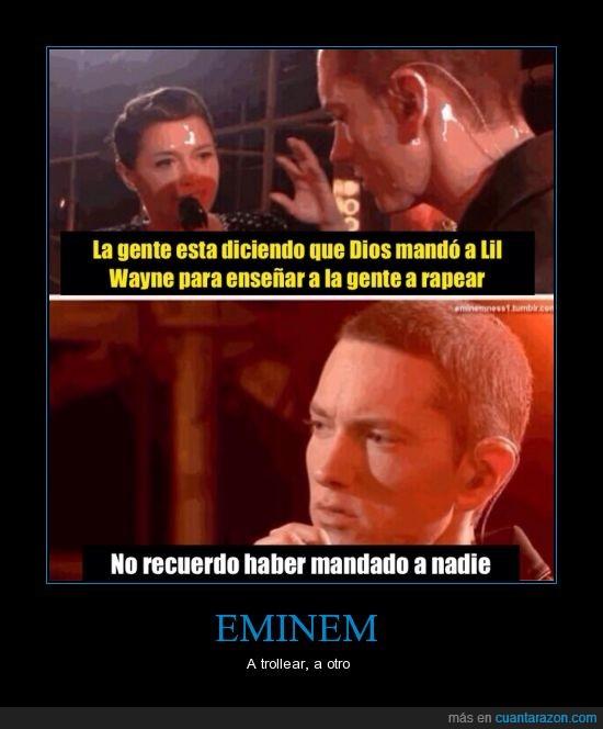 dios,Eminem,enseñar,entrevista,entrevistadora,lil,rap,wayne