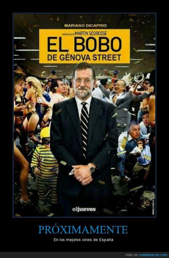 bobo,el lobo de wall street,españa,genova street,parodia,pelicula,pp,rajoy
