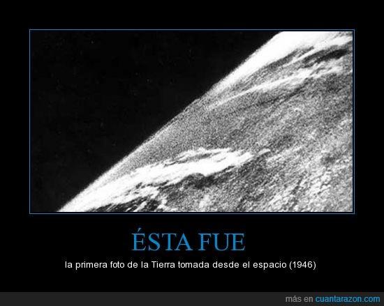 1946,espacio,fotografía,primera,Tierra