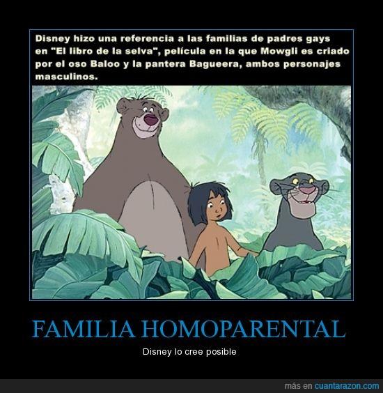 disney,el libro de la selva,familia,homoparental,libro,mowgli,selva