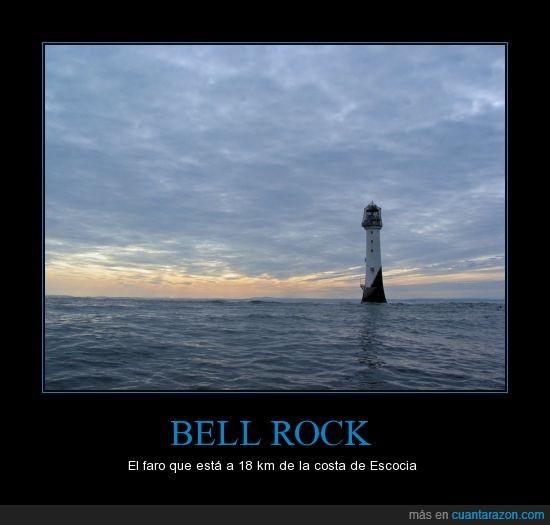 bell rock,escocia,faro,maravilla de la ingieneria,mirar la fuente donde explican su construcion,muchos naufragios