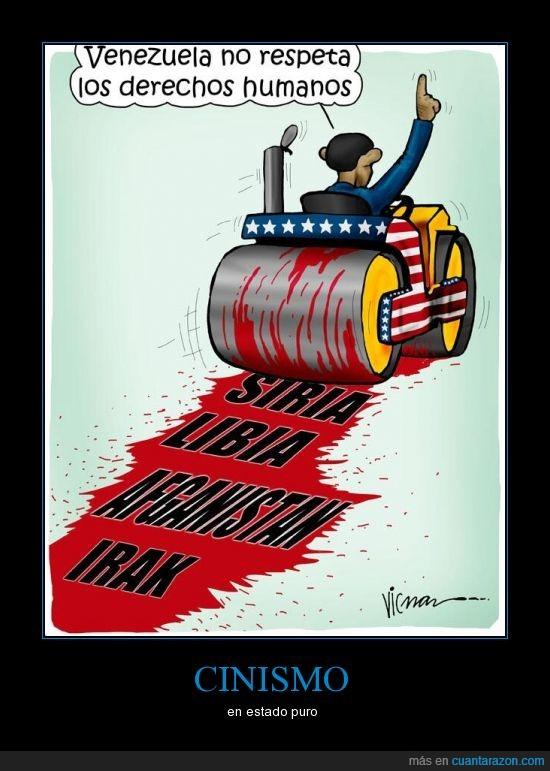 cinismo,EUA,mentira,Obama,sangre,Venezuela