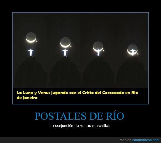 luna,maravilla,Postales,Río de Janeiro,Venuz