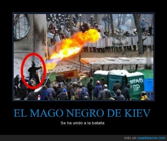 disturbios,kiev,llamarada,mago,manifestación,negro,ucrania
