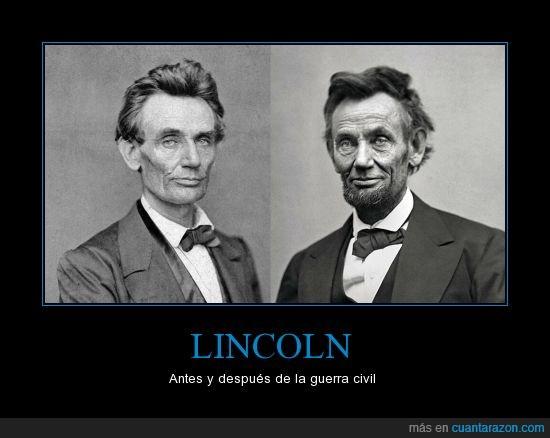 américa,antes,después,estados unidos,guerra civil,Lincoln,presidente