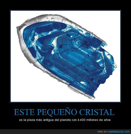 4.400 millones de años,Asturias,azul,cristal,orígenes de la tierra