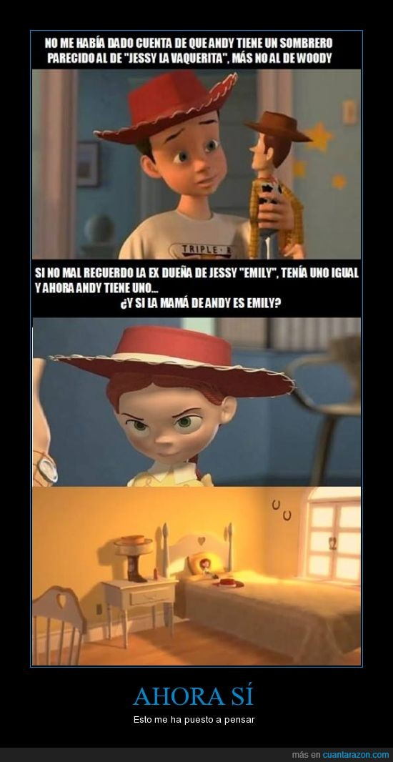 andy,emily,escepticismo,jessy,lógica,puede ser,sombreros,toy story