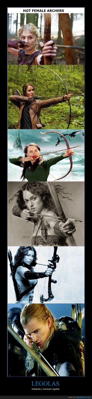 arco,arqueras,elfo,femeninas,flechitas,katniss,legolas,mujeres