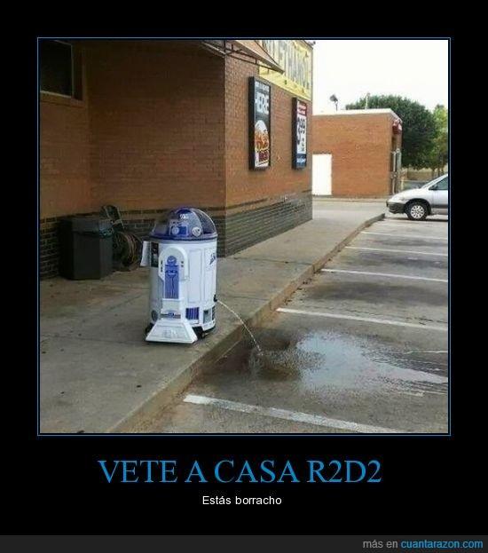 calle,orinar,pelicula,r2d2,robot,star wars
