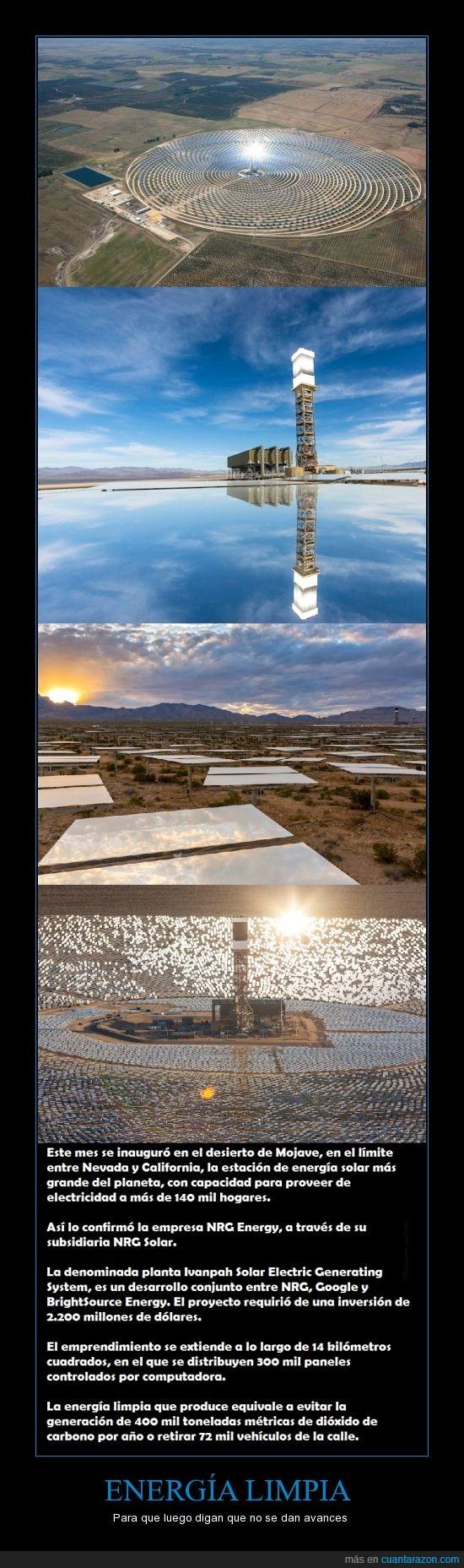 avances,California,energía,energía limpia,Ivanpah Solar Electric Generating System,Usa EUA