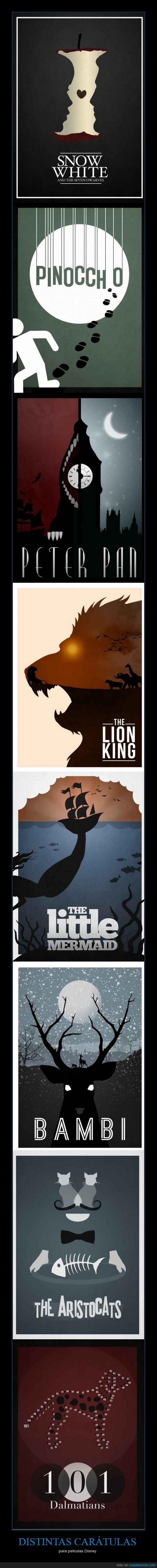 Bambi,caratulas,dalmatas,disney,El rey leon,imagenes,La sirenita,Peter pan