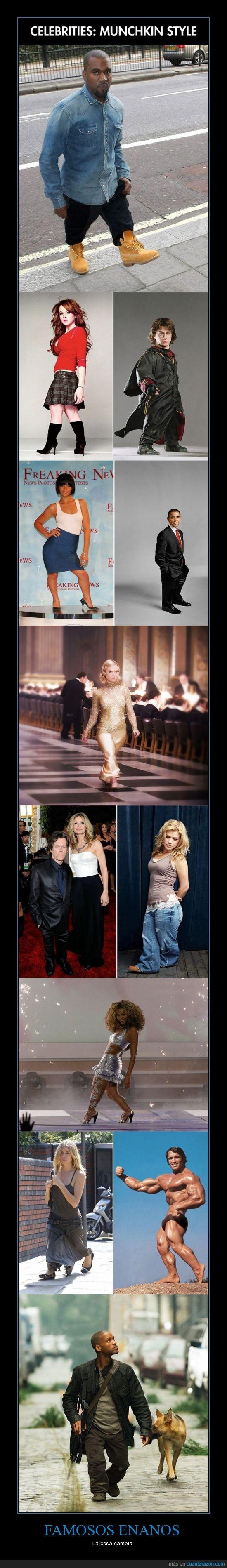 Arnold,enanos,famosos,Harry Potter,Obama,Will Smith