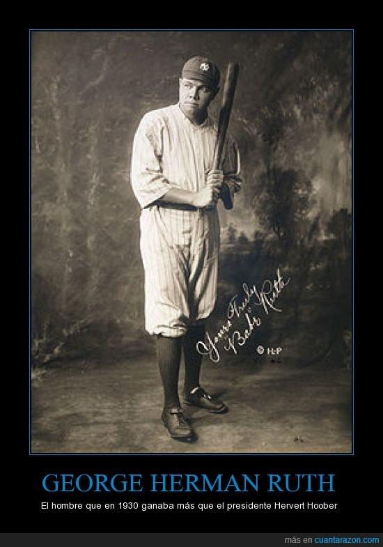 Babe Ruth,Baseball,Hervert Hoober,jugador