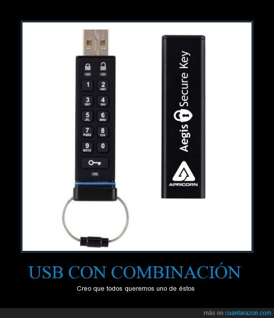 codigo de bloqueo,memoria,seguridad,USB