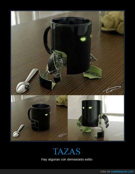 cafe,desayunar,mover,patas,patitas,robot,robotica,taza