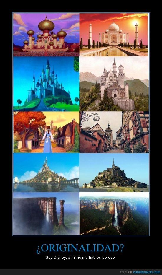 catillos,Disney,paisajes,peliculas,reales