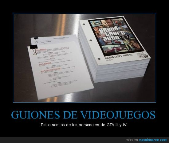 Gta,gta iii,gta iv,guiones,videojuego