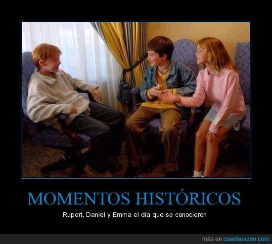 Daniel,Emma,encuentro,harry potter,Rupert