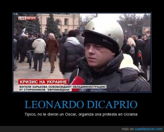 DiCaprio,Oscar,Protesta,Ucrania