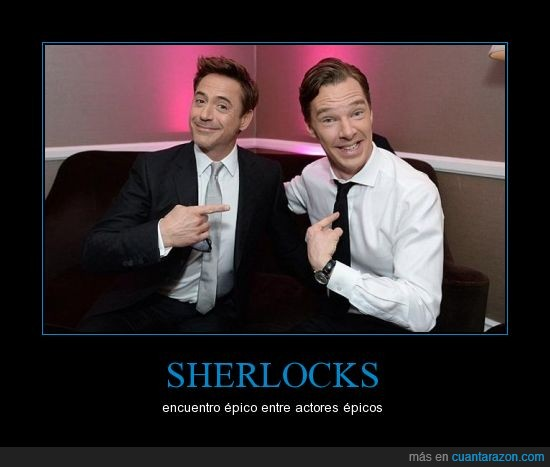 Benedict Cumberbatch,encuentro,Robert Downey Jr,Sherlock holmes