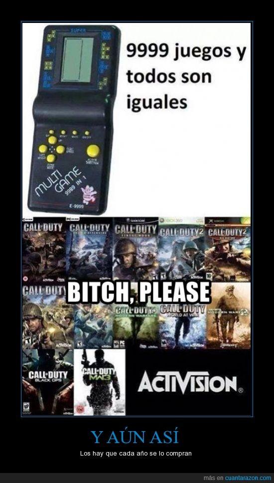 9999 juegos iguales,activision,call of duty,lo mismo,todos los años