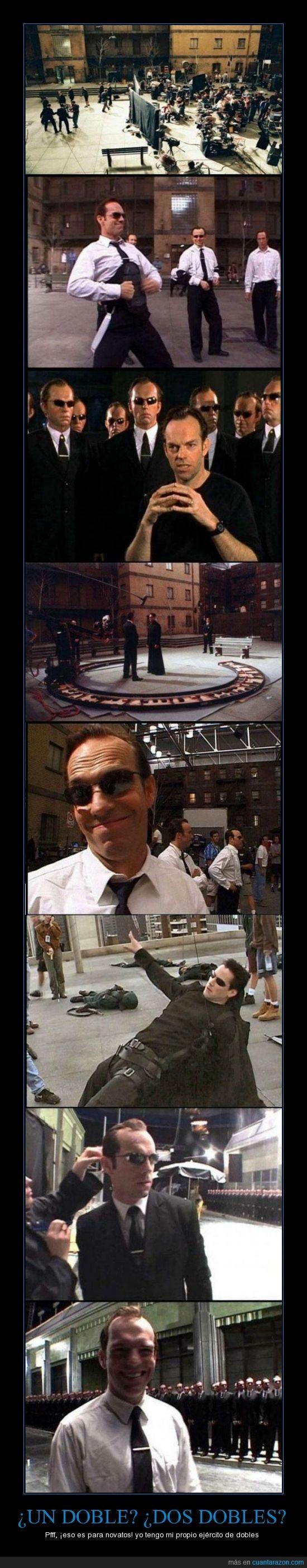 dobles,ejercito,escena,inolvidable,matrix