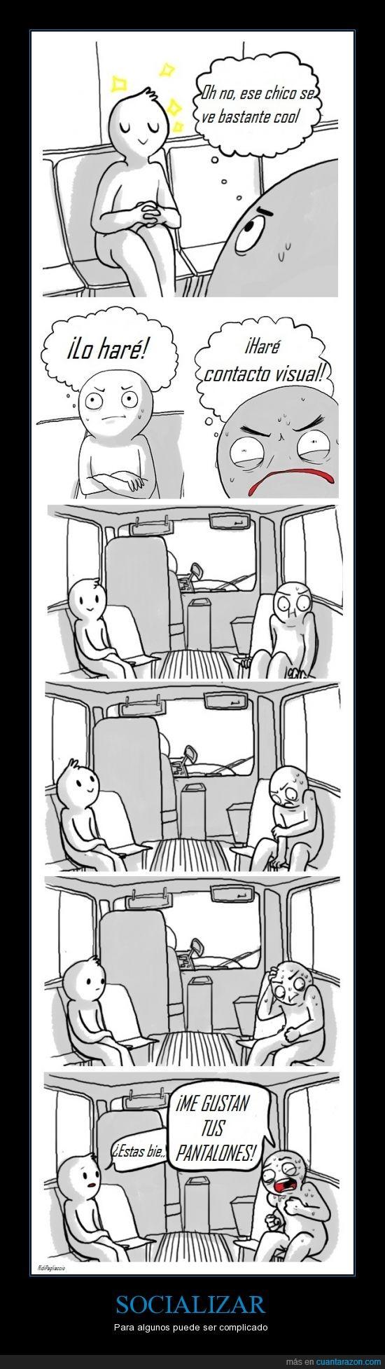 amistades,autobus,dificil,metro,socializar