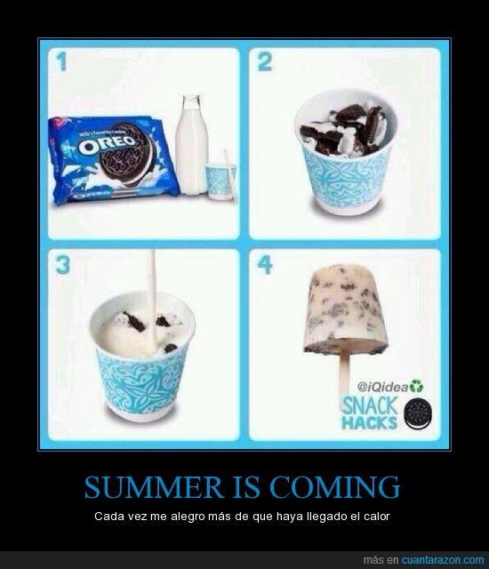 calor,helado,leche,mejoresgalletas,oreo,rico,verano