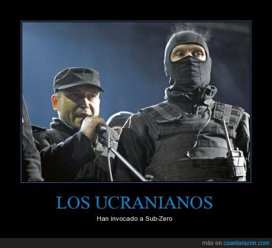 invocacion,militar,mortal kombat,sub-zero,subzero,ucrania,ucranianos