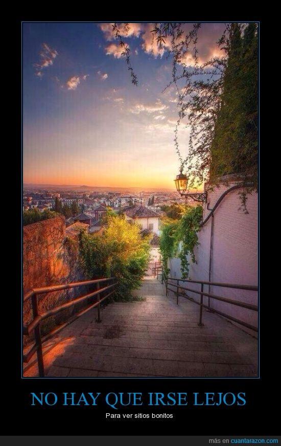 bonito,ciudad,España,Granada,paisaje