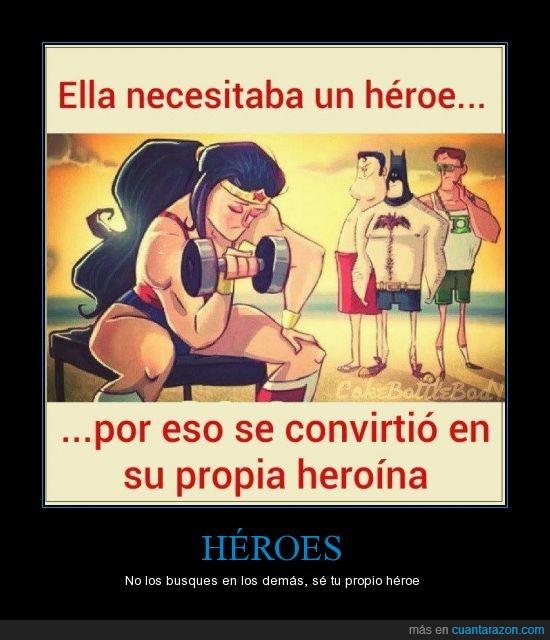 batman,ella,entrenar,héroes,mejorar,misma,se tu mismo,superman,wonderwoman