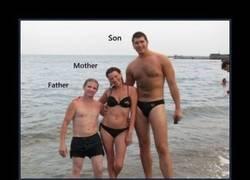 Enlace a Padre bajito, madre alta, hijo gigante