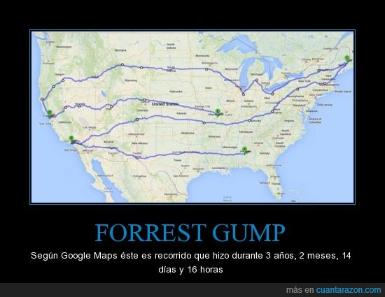 correr,EE.UU,forrest,google,gump,maps,run forrest run