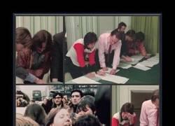 Enlace a Paul McCartney y George Harrison rompiendo corazones