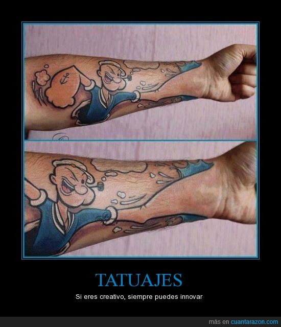 creativo,popeye,Popeye el marino soy,tatuajes