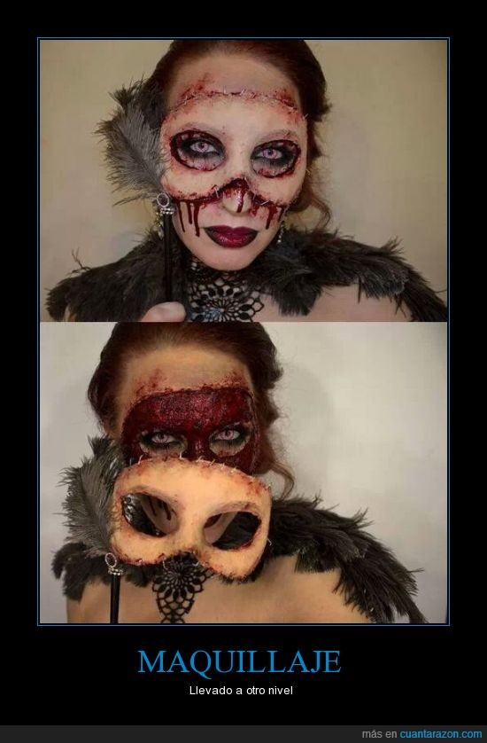 arte,da mucho miedo,maquillaje realista,nunca me va a salir así,sangre