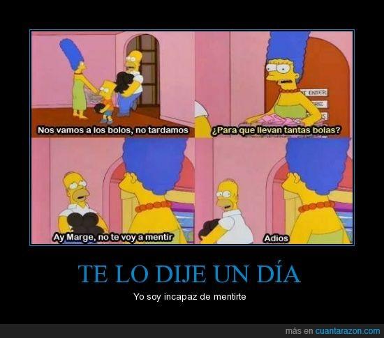 Homer,Homero,Los simpson,Marge,Mentir,quejar